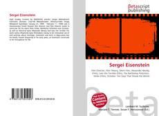 Bookcover of Sergei Eisenstein