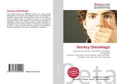 Bookcover of Secrecy (Sociology)