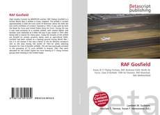 Capa do livro de RAF Gosfield