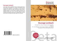Copertina di Ouvrage Lembach
