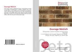 Capa do livro de Ouvrage Metrich