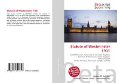 Capa do livro de Statute of Westminster 1931