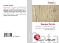 Capa do livro de Ouvrage Rimplas