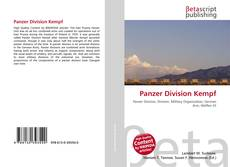 Bookcover of Panzer Division Kempf