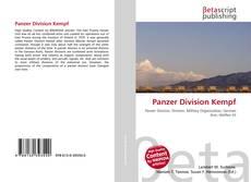 Buchcover von Panzer Division Kempf