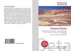 Bookcover of Sonoran Desert