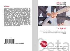 Buchcover von Y Speak