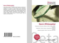 Bookcover of Norm (Philosophy)