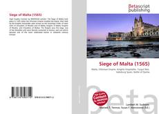 Portada del libro de Siege of Malta (1565)
