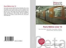 Buchcover von Paris Métro Line 13