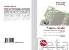 Bookcover of Processor register