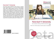 Paris-Sud 11 University kitap kapağı