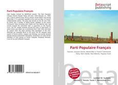 Bookcover of Parti Populaire Français