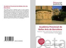 Bookcover of Acadèmia Provincial de Belles Arts de Barcelona