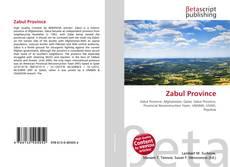 Bookcover of Zabul Province