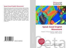 Bookcover of Speak Good English Movement