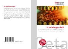 Bookcover of Schrödinger field