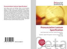 Capa do livro de Pronunciation Lexicon Specification