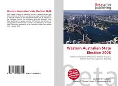 Обложка Western Australian State Election 2008