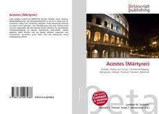 Buchcover von Acestes (Märtyrer)