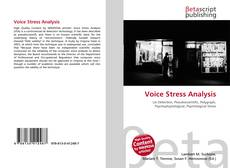 Buchcover von Voice Stress Analysis