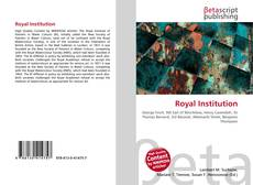 Bookcover of Royal Institution