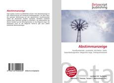 Bookcover of Abstimmanzeige