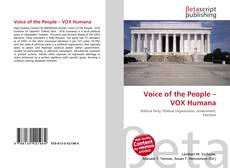 Bookcover of Voice of the People – VOX Humana