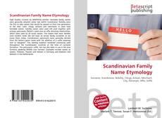 Borítókép a  Scandinavian Family Name Etymology - hoz