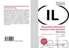 Bookcover of Reparations Agreement between Israel and West Germany