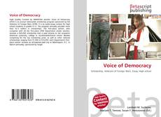 Voice of Democracy kitap kapağı