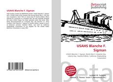 Bookcover of USAHS Blanche F. Sigman