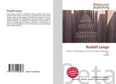 Capa do livro de Rudolf Lange