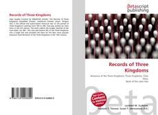 Обложка Records of Three Kingdoms