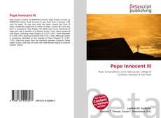 Bookcover of Pope Innocent III