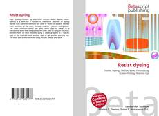 Bookcover of Resist dyeing