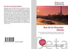 Bookcover of Rue de la Chaussée-d'Antin