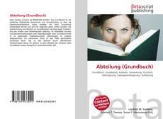Bookcover of Abteilung (Grundbuch)