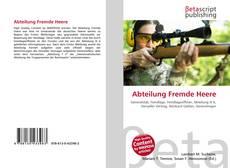 Bookcover of Abteilung Fremde Heere