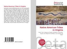Capa do livro de Native American Tribes in Virginia