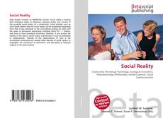Bookcover of Social Reality