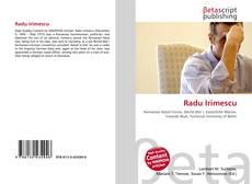 Bookcover of Radu Irimescu