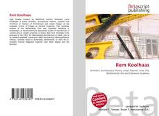 Bookcover of Rem Koolhaas