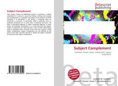 Bookcover of Subject Complement