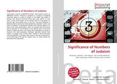 Bookcover of Significance of Numbers of Judaism