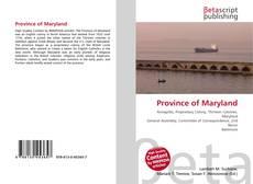 Обложка Province of Maryland