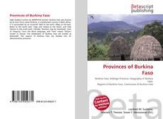 Buchcover von Provinces of Burkina Faso