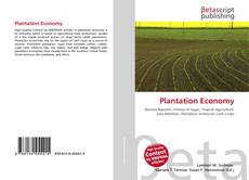Bookcover of Plantation Economy