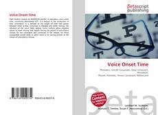 Bookcover of Voice Onset Time