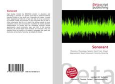 Bookcover of Sonorant